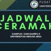 Jadwal Tausyiah Harian Bulan April 2018 Kampus I dan II Universitas Medan Area