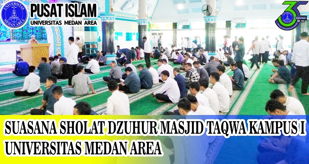 Antusias Mahasiswa Baru dalam Sholat Dzuhur Berjama'ah