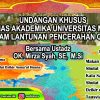 Undangan Khusus Bagi Civitas Akademika Universitas Medan Area dalam Pencerahan Qalbu